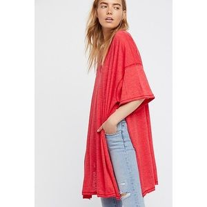FREE PEOPLE Oversized Solid City Slicker Tunic L
